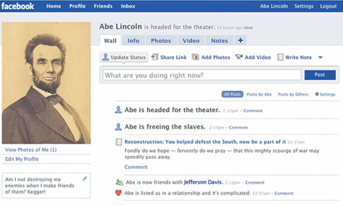Abraham Lincoln and Facebook Templates for Learning