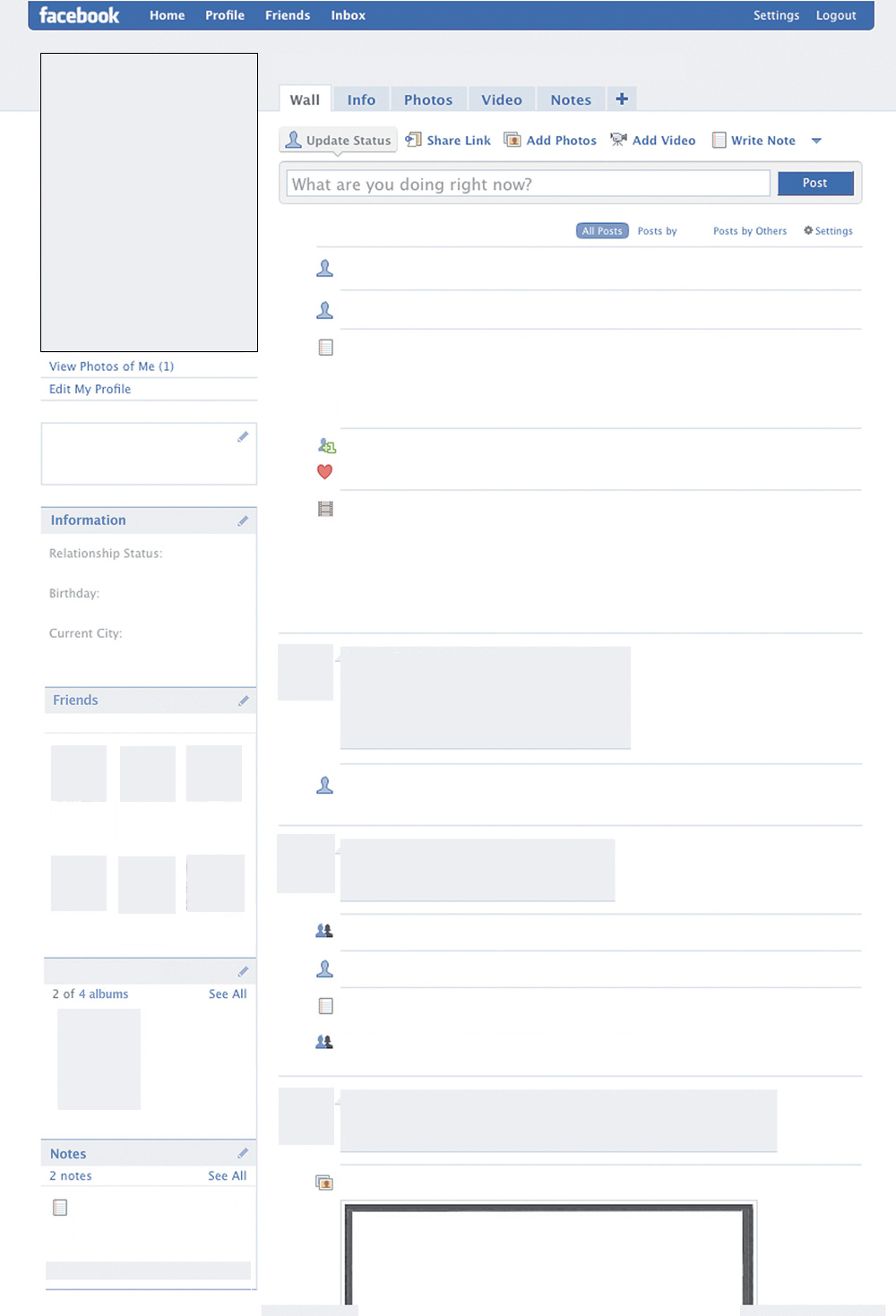 picture relating to Printable Facebook Template titled Acquiring a Fb Site Track record: