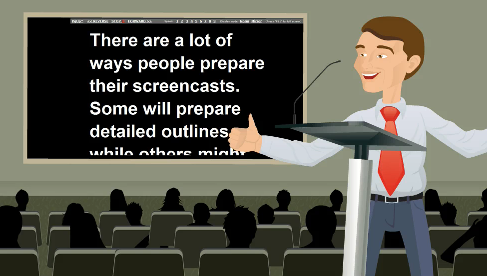 CuePrompter: A Screencaster's Best Friend?