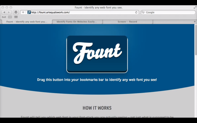 Fount: Easily Identify Fonts On Websites and Blogs