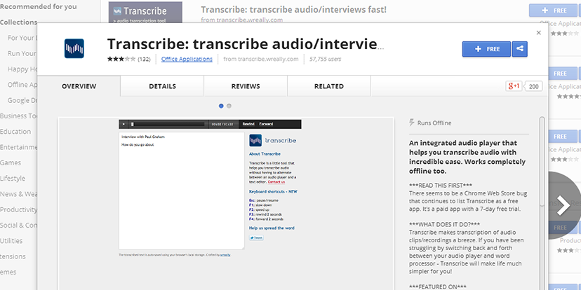 Transcribe: free online application for transcribing audio interviews
