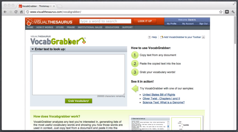 Using VocabGrabber to Quickly Generate Vocabulary Lists