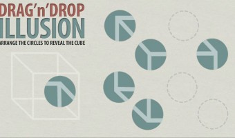 Drag Drop Game: Optical Illusion